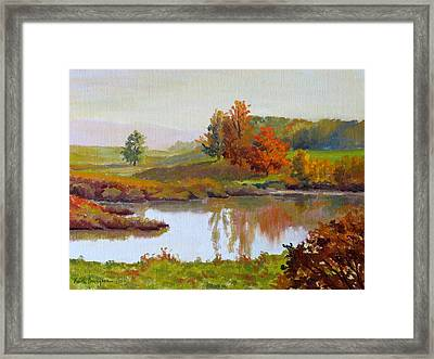 Distant Maples Framed Print by Keith Burgess