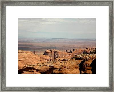 Framed Print featuring the photograph Distant Mesa by Fred Wilson