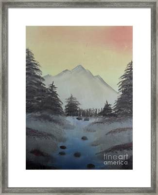 Distant Mountain Framed Print