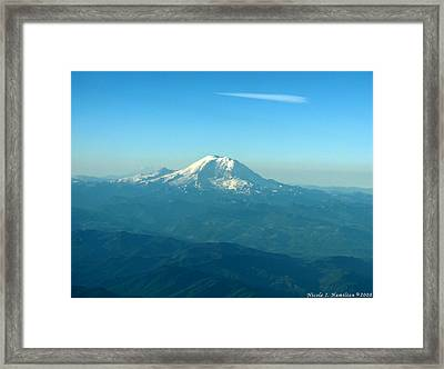 Distant Mountain Framed Print by Nicole I Hamilton