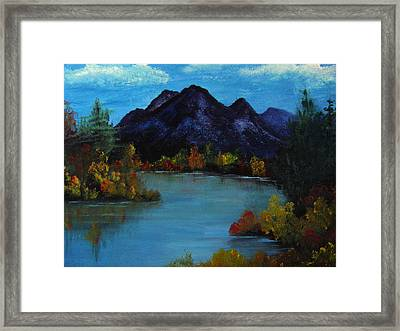 Distant Mountain View Framed Print by Rhonda Myers