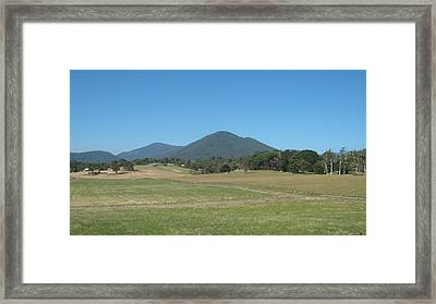 Distant Moutains Framed Print