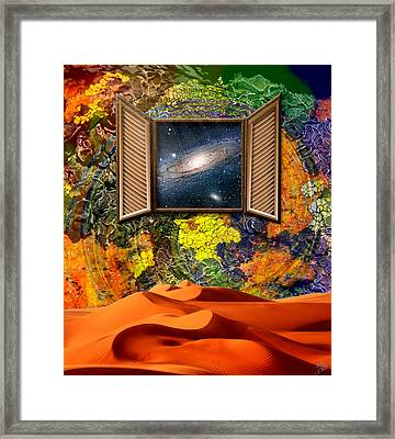 Distant Observations Framed Print by Ally  White