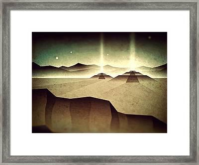 Distant Past Horizon Framed Print