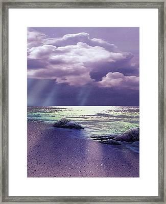 Distant Rain Framed Print by Ken Shotwell