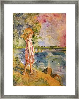 Framed Print featuring the painting Distant Shores by P Maure Bausch