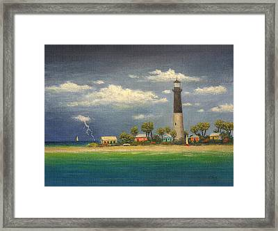 Distant Storm Framed Print by Gordon Beck