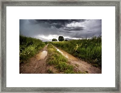 Distant Thunder Paint Framed Print