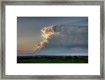 Distant Thunderstorm Framed Print