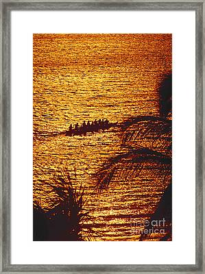 Distant View Of Outrigger Framed Print by Ron Dahlquist - Printscapes