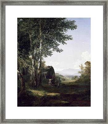 Distant View Of The Mansfield Mountain Vermont Framed Print by John Frederick Kensett