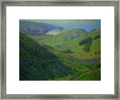 Distant View To Allens Beach Framed Print