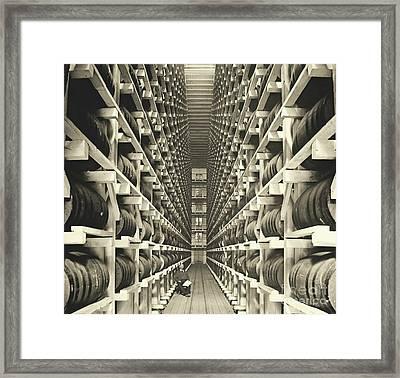 Distillery Barrel Racks 1905 Framed Print