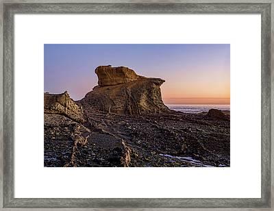 Distinctive Rock Aliso Beach Framed Print
