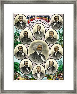 Distinguished African American Men Antique Print 1883 Framed Print by Orchard Arts