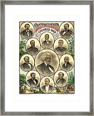 Distinguished Colored Men   1883 Framed Print