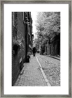 Distinguished Gentleman On Acorn Street Framed Print
