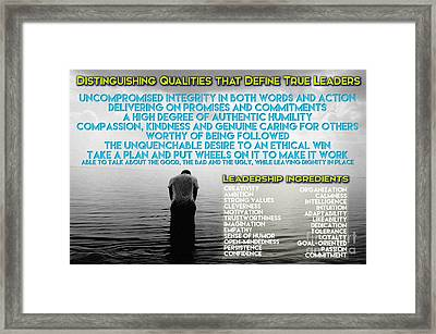 Distinguishing Qualities That Define True Leaders Framed Print by Celestial Images