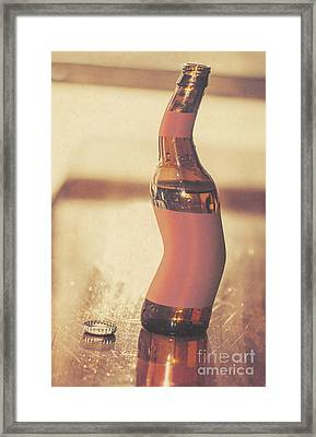 Distorted Beer Bottle Doing A Warped Dance Framed Print by Jorgo Photography - Wall Art Gallery