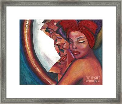 Framed Print featuring the mixed media Distorted Image by Alga Washington
