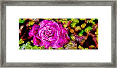 Distorted Romance Framed Print