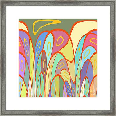 Distorted Squares And Circles Framed Print by Gaspar Avila