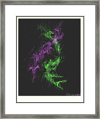 Framed Print featuring the digital art Distortion by John Krakora
