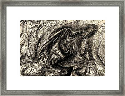 Distortion Framed Print