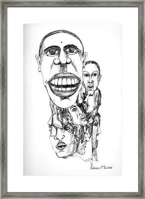 Framed Print featuring the drawing Distortion by Padamvir Singh