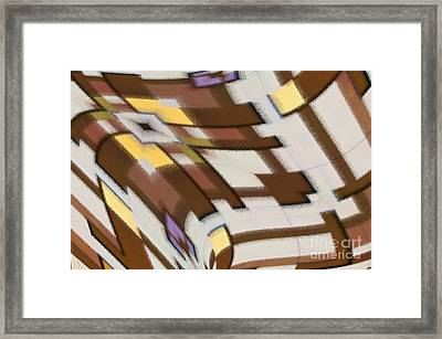 Framed Print featuring the digital art Distortion by Wendy Wilton