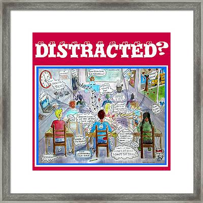 Distracted -adhd Poster Framed Print