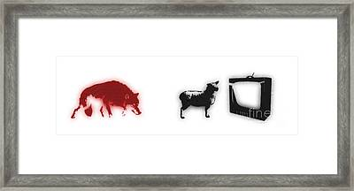 Distraction  Framed Print by Pixel Chimp and Dave Merrill