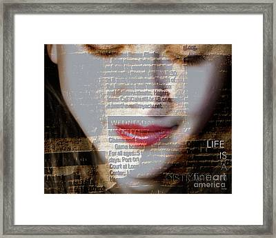 Distraction  Framed Print by Steven Digman