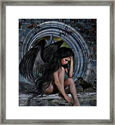 Distress Angel02 Framed Print