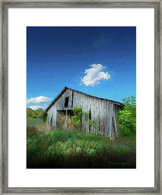 Distress Barn Framed Print by Marvin Spates