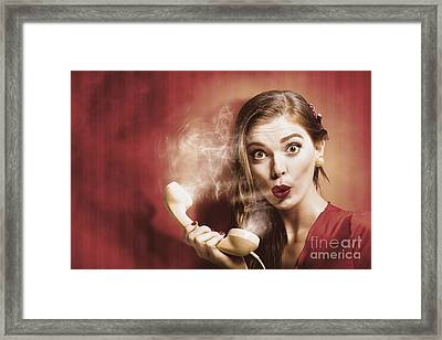 Distress Call Framed Print