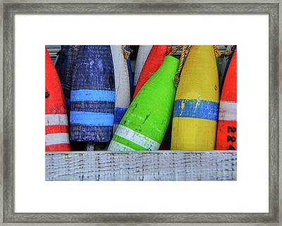 Distressed Buoy Framed Print by JAMART Photography