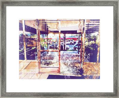Distressed City Framed Print by Davy Cheng