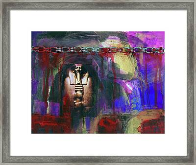 Distressed Civilization  Framed Print by Walter Fahmy