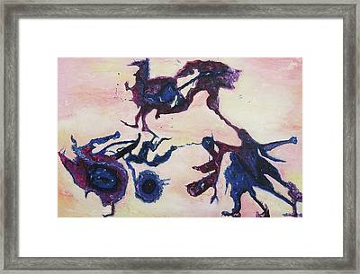 Distressed Conflict Framed Print