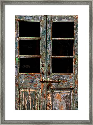 Distressed Doors Framed Print