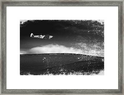 Distressed Spitfire Framed Print by Meirion Matthias