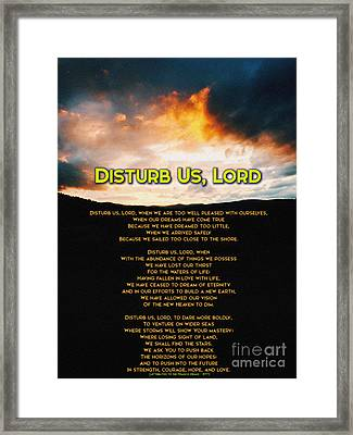 Disturb Us Lord Framed Print by Celestial Images