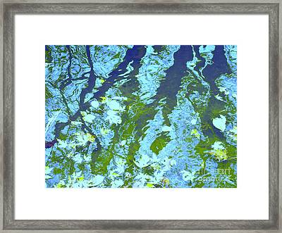 Disturbed Blues Framed Print by Sybil Staples