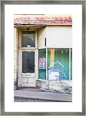 Disused Shop Framed Print by Tom Gowanlock