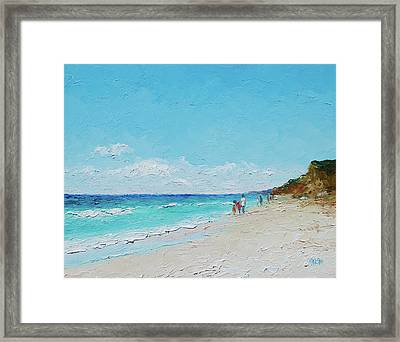 Ditch Plains Beach Montauk Hamptons Ny Framed Print