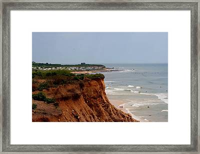 Ditch Plains Montauk Framed Print by Christopher Kirby
