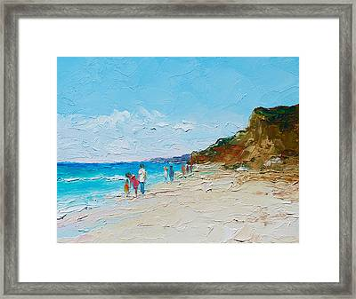 Ditch Plains Beach Montauk Hamptons  Framed Print by Jan Matson