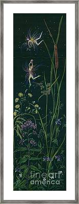 Ditchweed Fairy Cattails Framed Print by Dawn Fairies