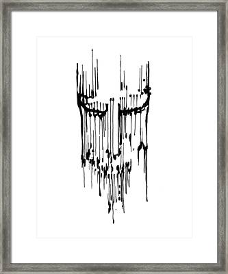 Framed Print featuring the drawing Dither by Keith A Link